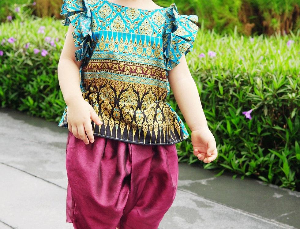 ชุดไทยเด็ก J3 Malai - Blue