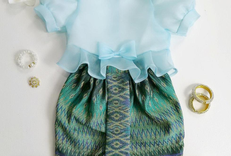 ชุดไทยเด็ก Metta- Blue/Green