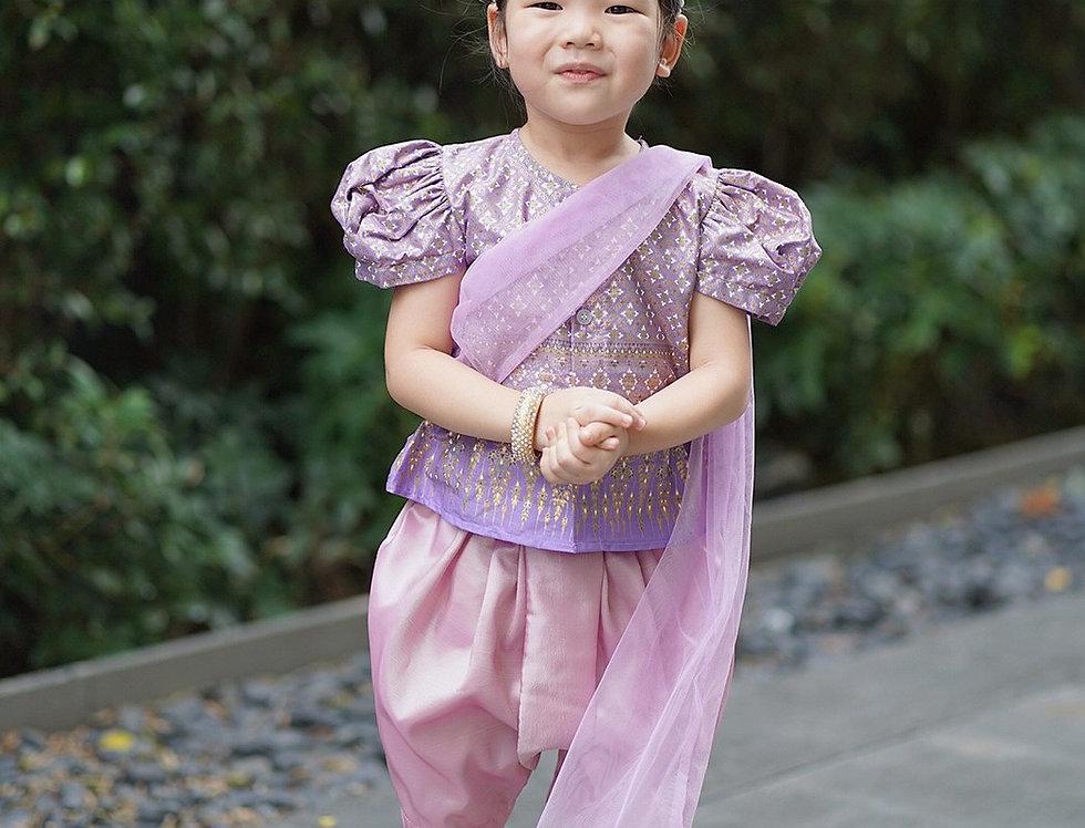 ชุดไทยเด็กหญิง SK2101 - lilac