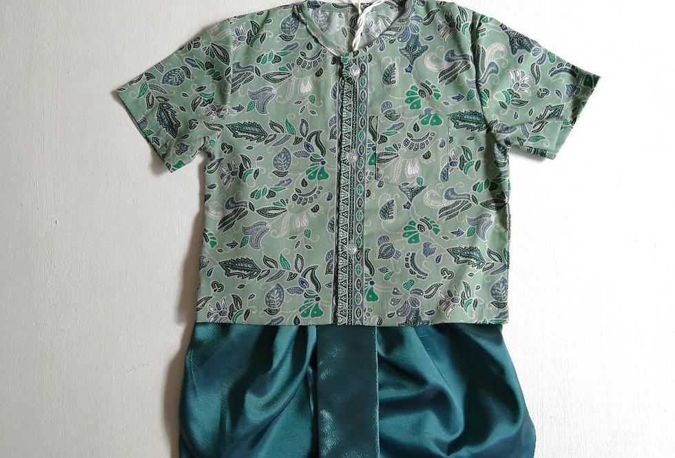 ชุดไทยเด็กชาย SET6- Green