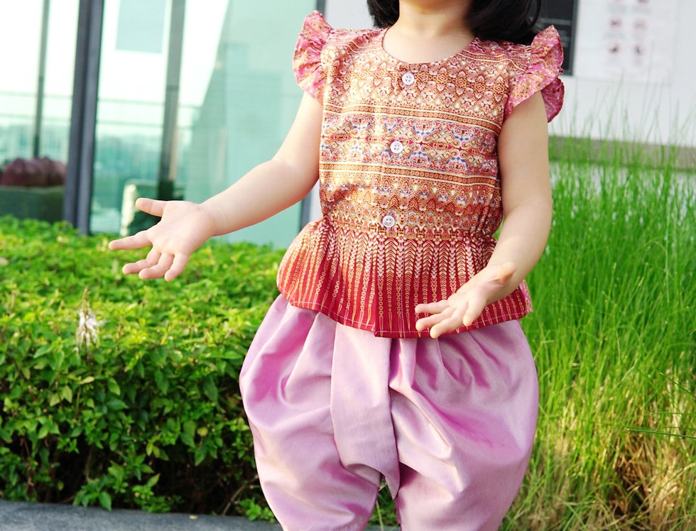 ชุดไทยเด็กหญิง J6 Mon- Pink