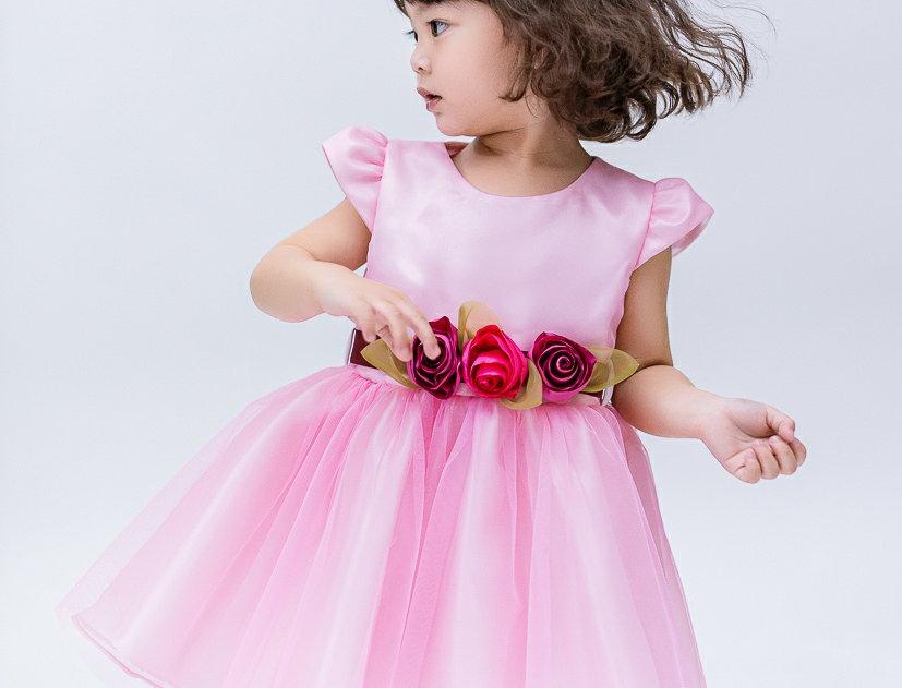 ชุดราตรีเด็ก E2111- pink