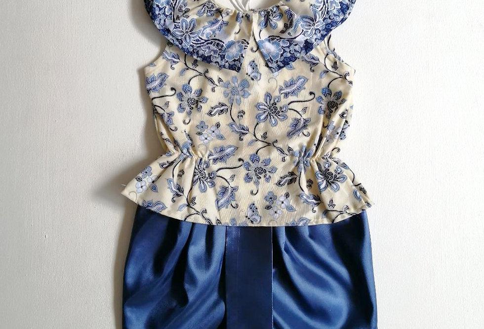 ชุดไทยเด็กหญิง SET5 - Blue
