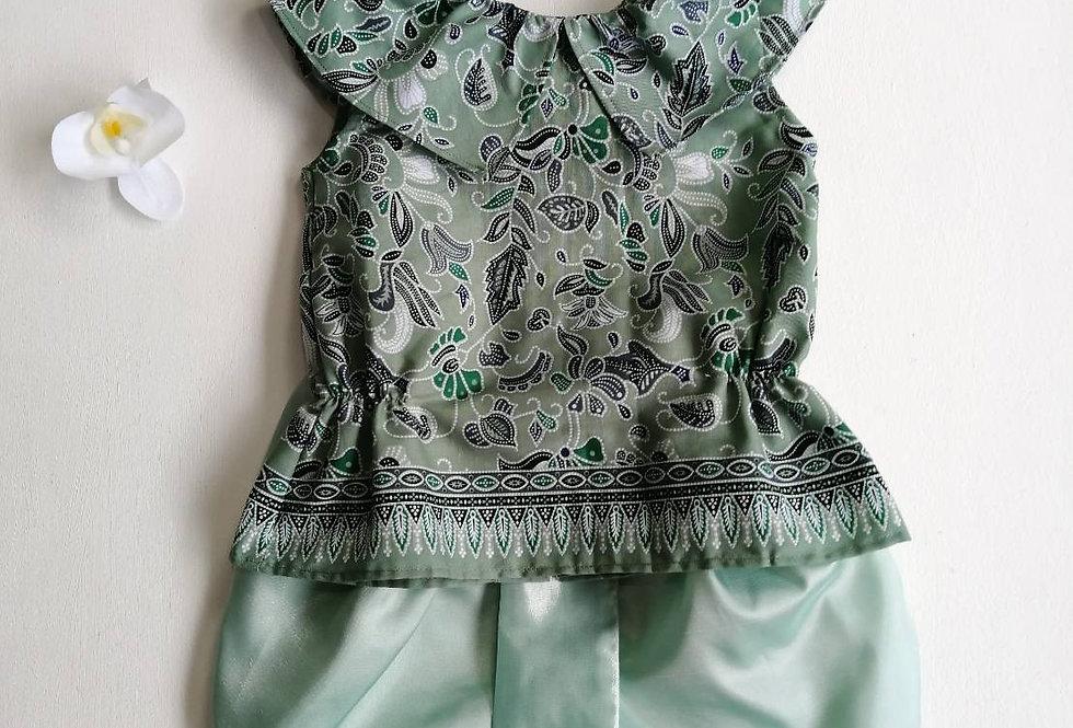 ชุดไทยเด็ก J7- green/mint