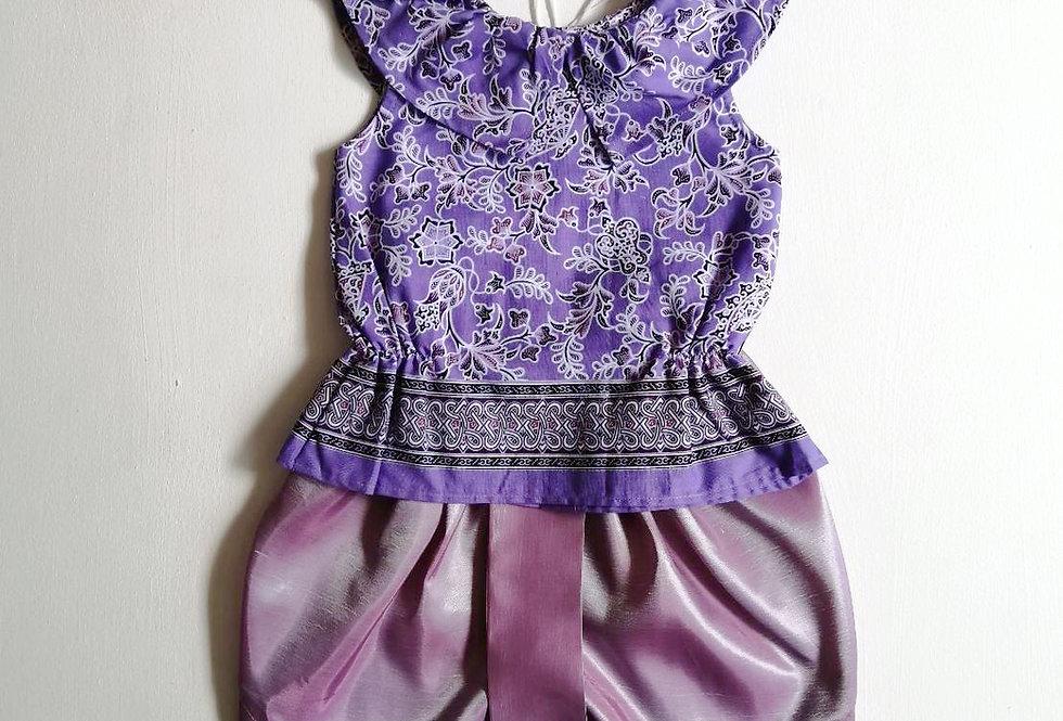 ชุดไทยเด็กหญิง SET4 - Purple