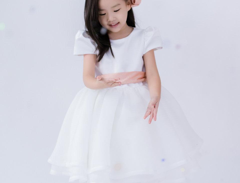 ชุดราตรีเด็ก สีขาว H20 Peach