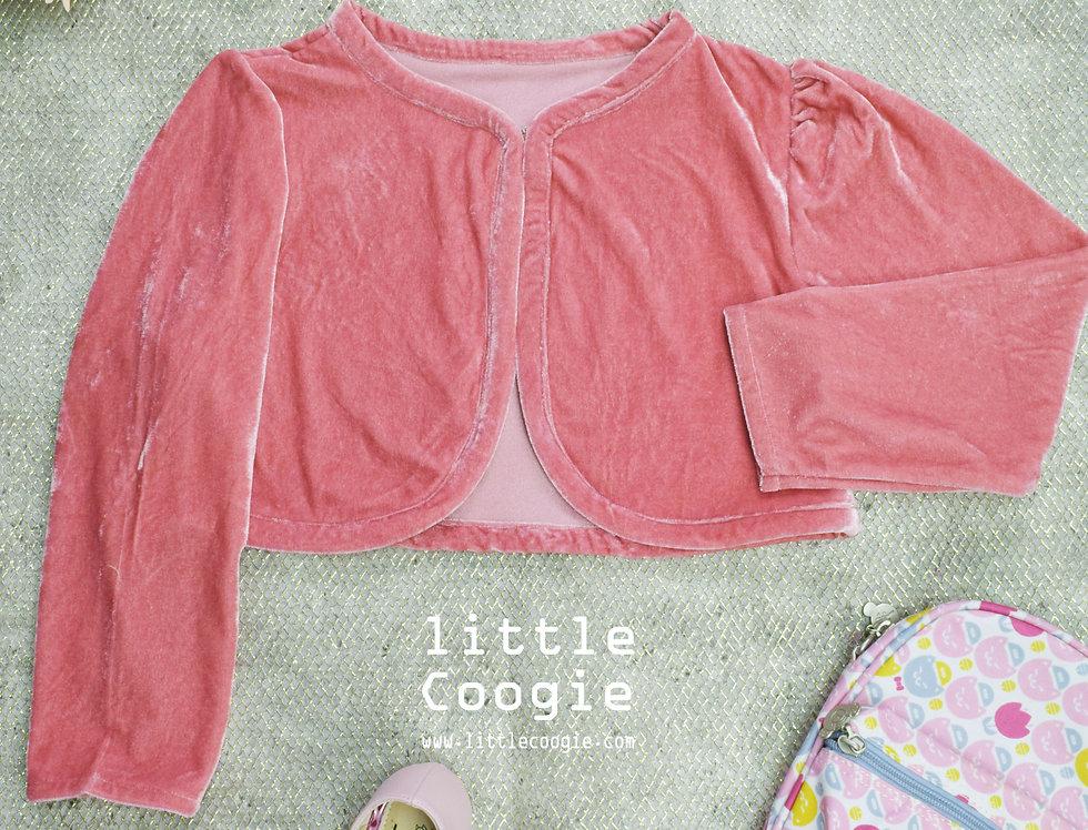 cardigan-02 Pink velvet