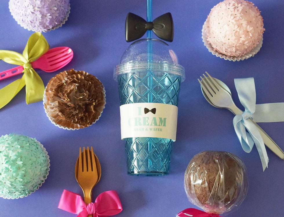 Fancy Acrylic Glass - Ice Cream - Blue