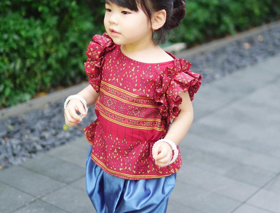 ชุดไทยเด็กหญิง J3 Karaked- Red