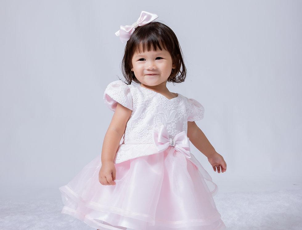 ชุดราตรีเด็ก SS-2046 Pink