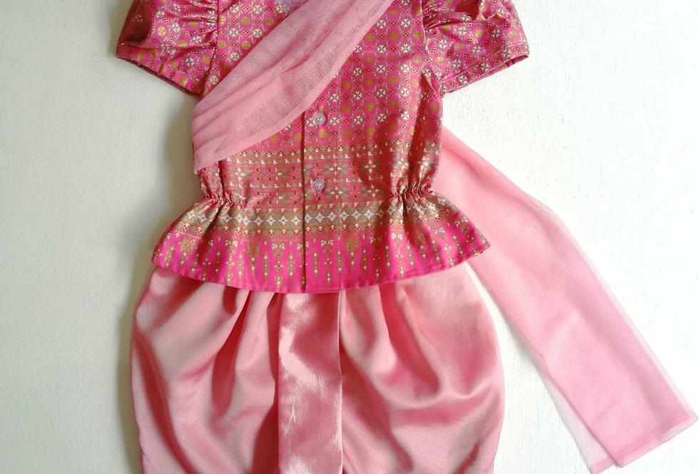 ชุดไทยเด็กหญิง SET8 - Pink