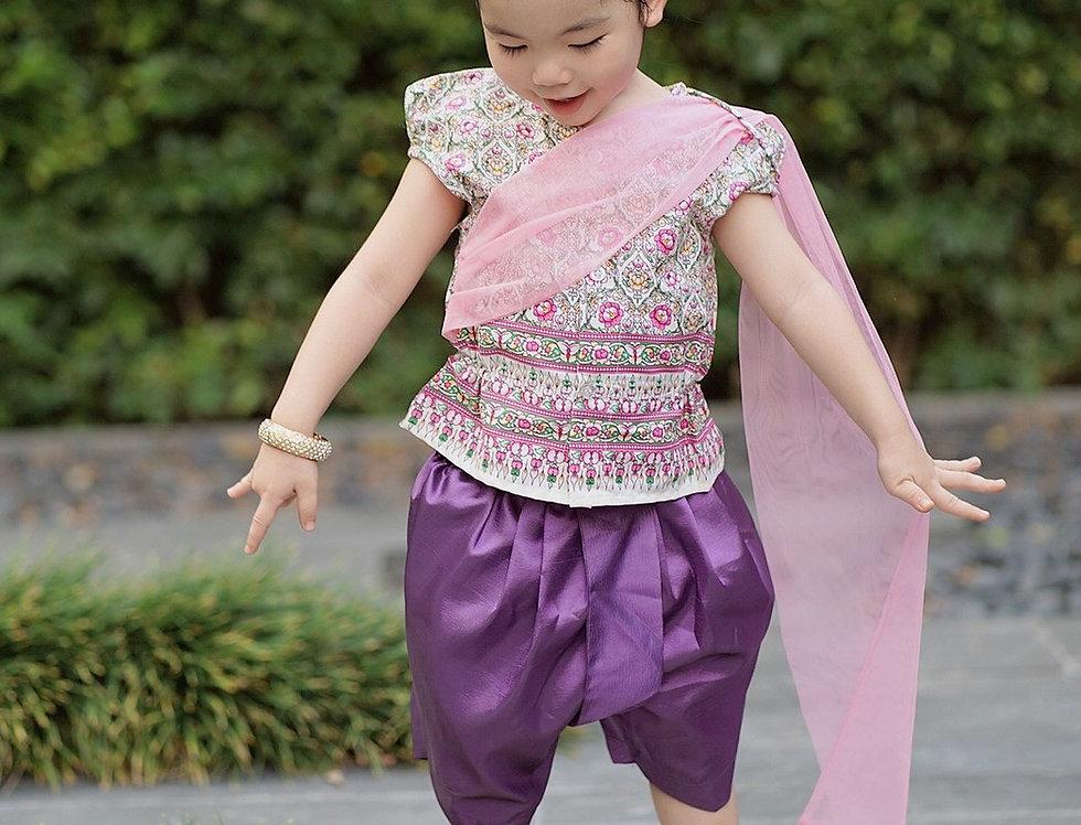 ชุดไทยเด็กหญิง SK2103 - Purple