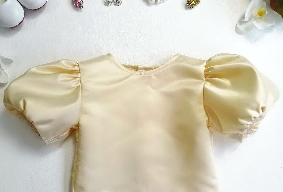ชุดไทยเด็ก เสื้อรุ่น Tulip -gold