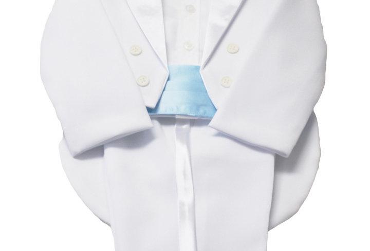 Tuxedo White-Blue