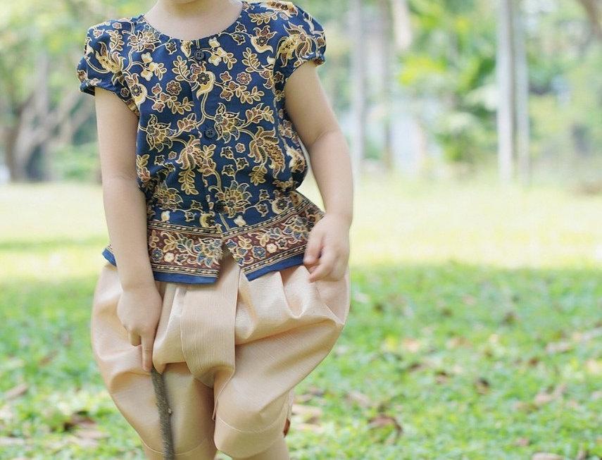 ชุดไทยเด็กหญิง SK2105-Navy