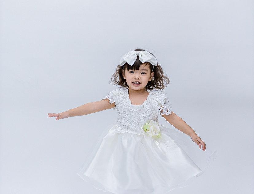 ชุดราตรีเด็ก E2114- white