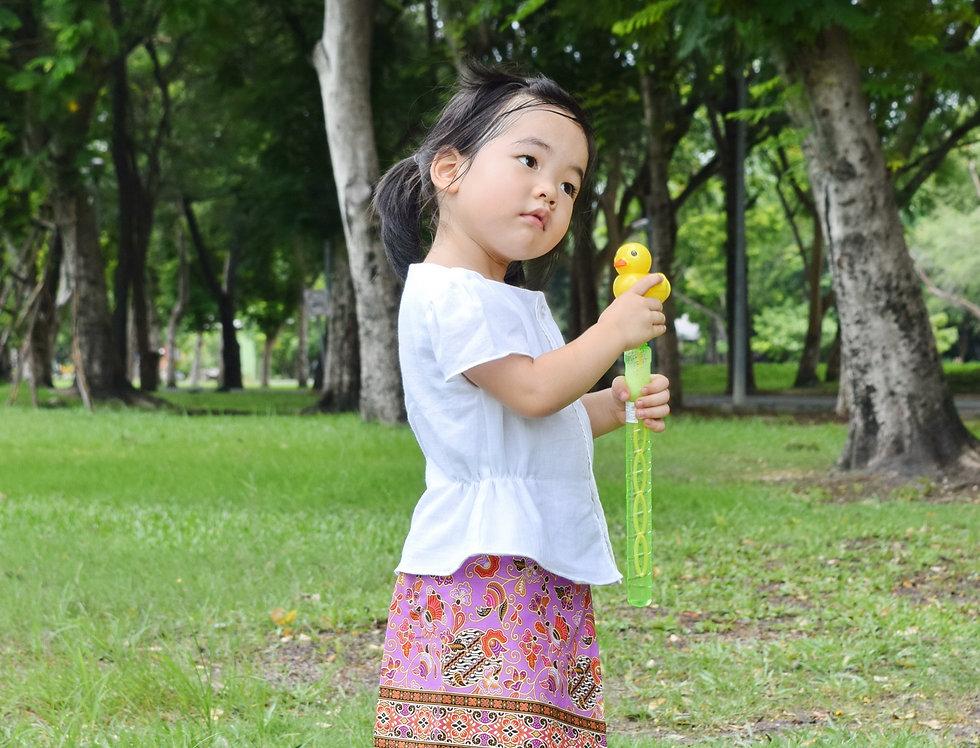 ชุดไทยเด็ก ชุดผ้าถุงเด็ก รุ่น B1/SR9-lilac