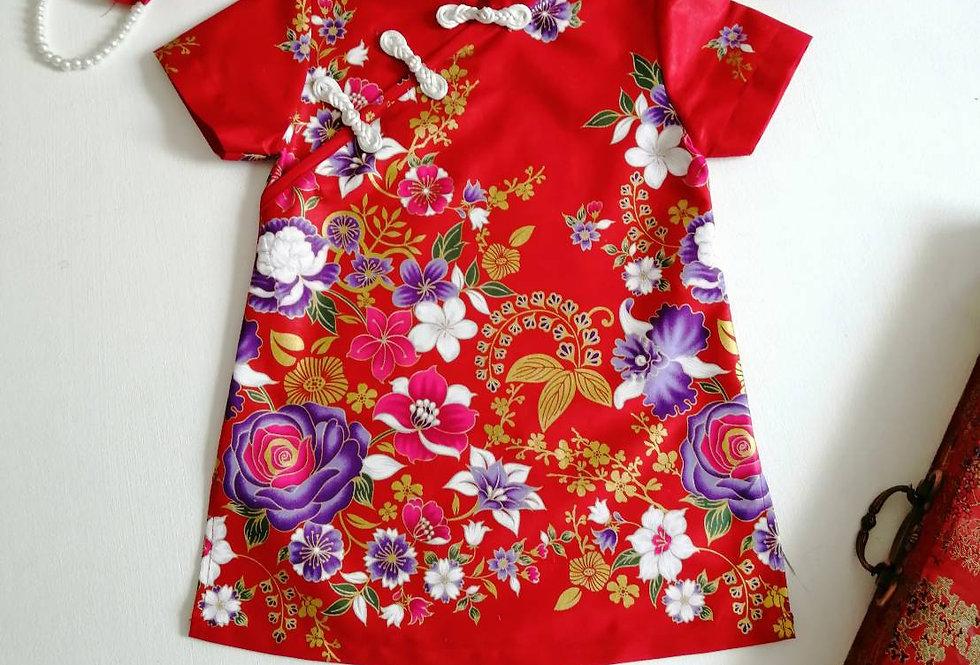 ชุดตรุษจีน เด็กหญิง สีแดง -AP1