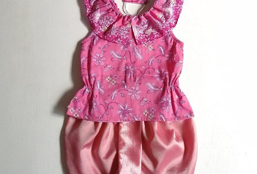 ชุดไทยเด็กหญิง SET2 - Pink