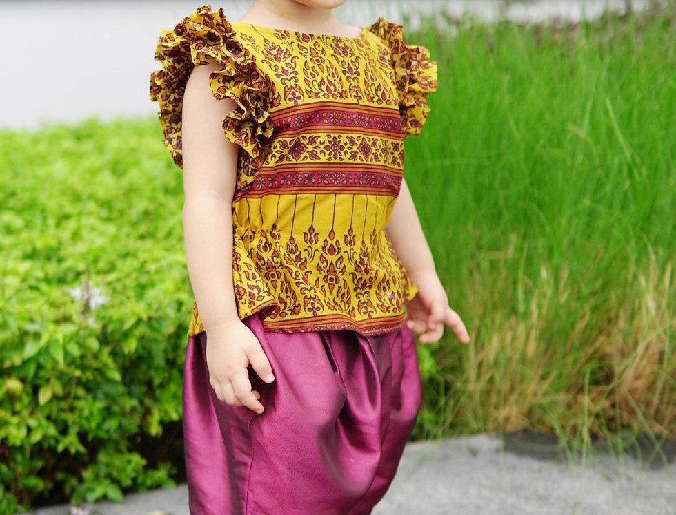 ชุดไทยเด็ก J3 Karaked- Yellow