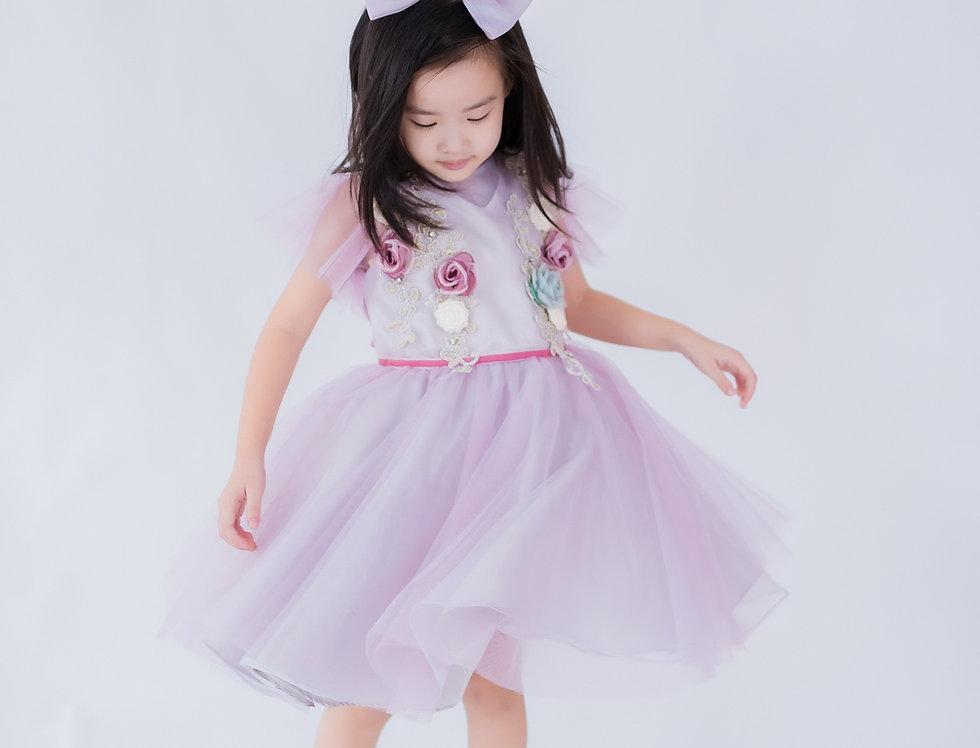 ชุดราตรีเด็ก สีม่วง H13 Lilac