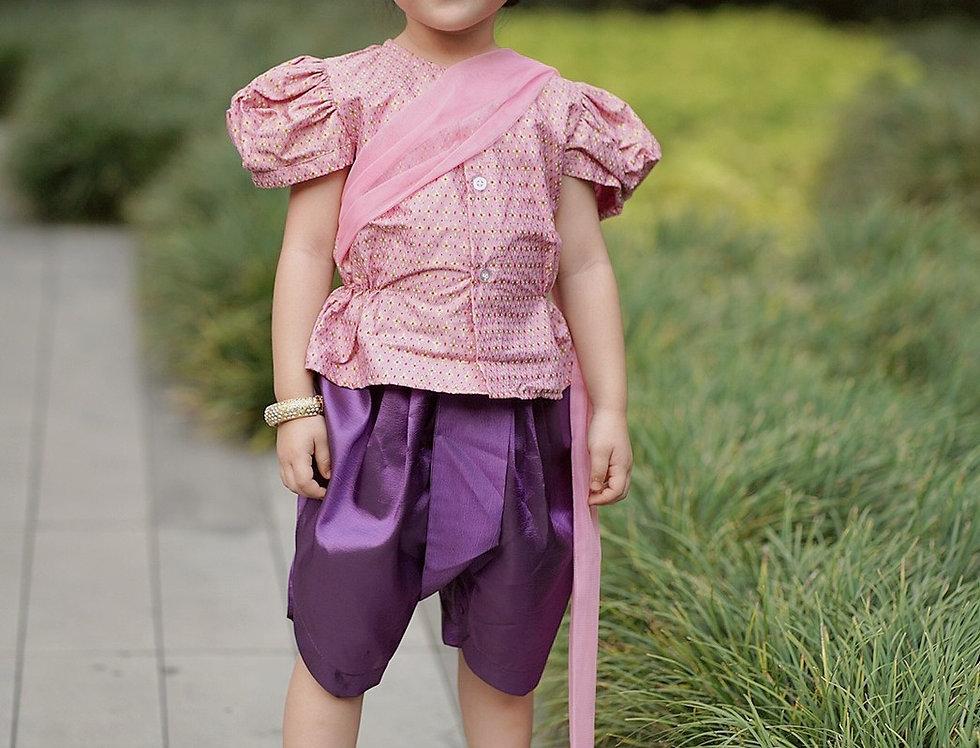 ชุดไทยเด็กหญิง SK2102 - pink
