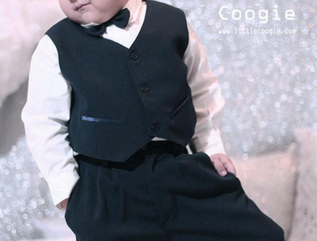 (Vest suit) TH017 Black