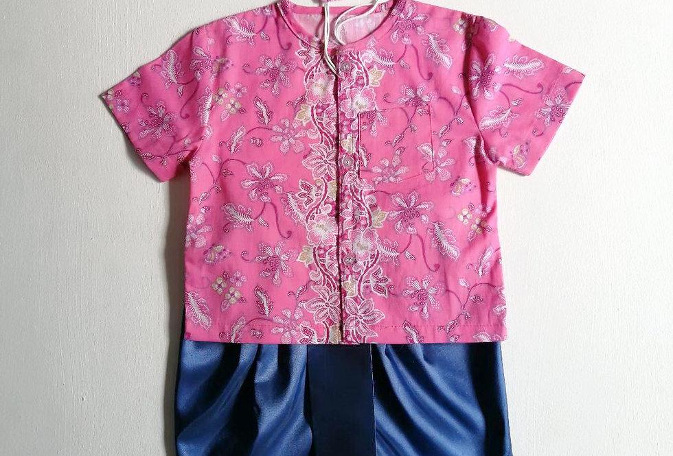 ชุดไทยเด็กชาย SET2- Pink
