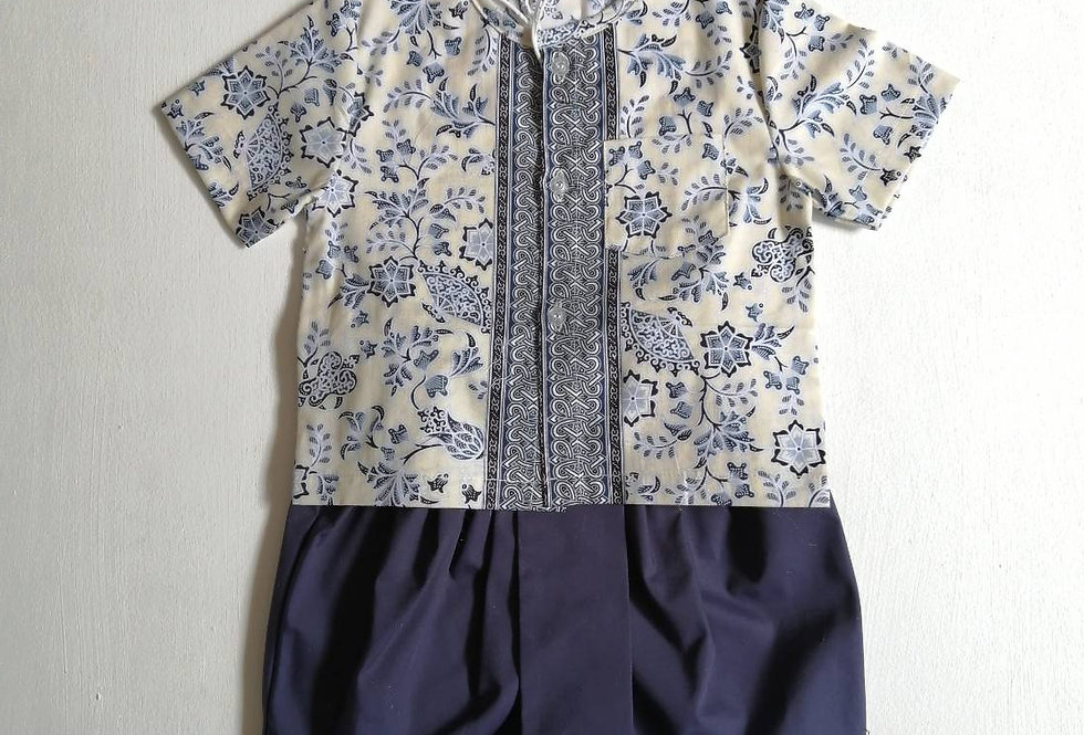 ชุดไทยเด็กชาย SET5-Blue