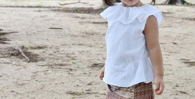 ชุดไทยเด็ก ชุดผ้าถุงสีเทาSR4