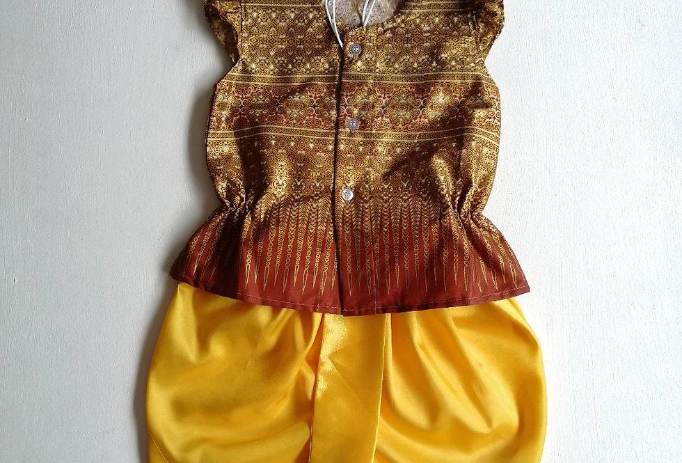 ชุดไทยเด็กหญิง SET15 - Gold