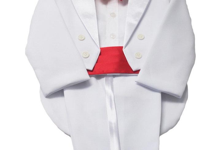 Tuxedo White- Red