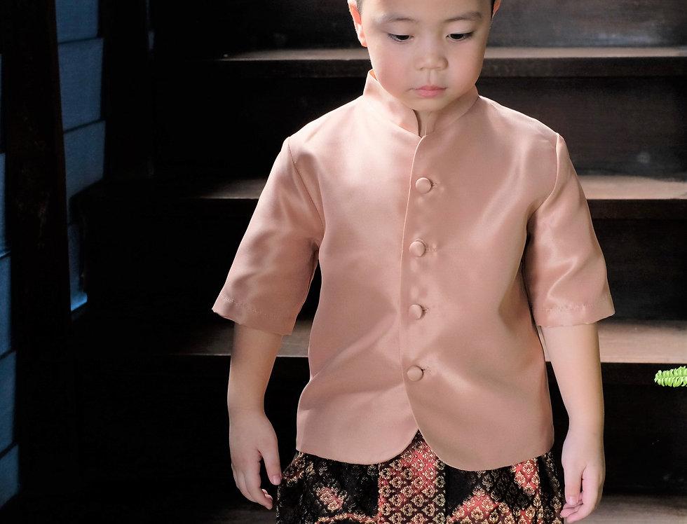 ุชุดไทยเด็ก TK - brown/maroon