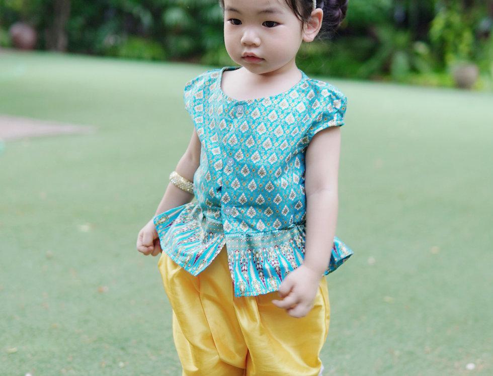 ชุดไทยเด็ก J2 Manee - Blue
