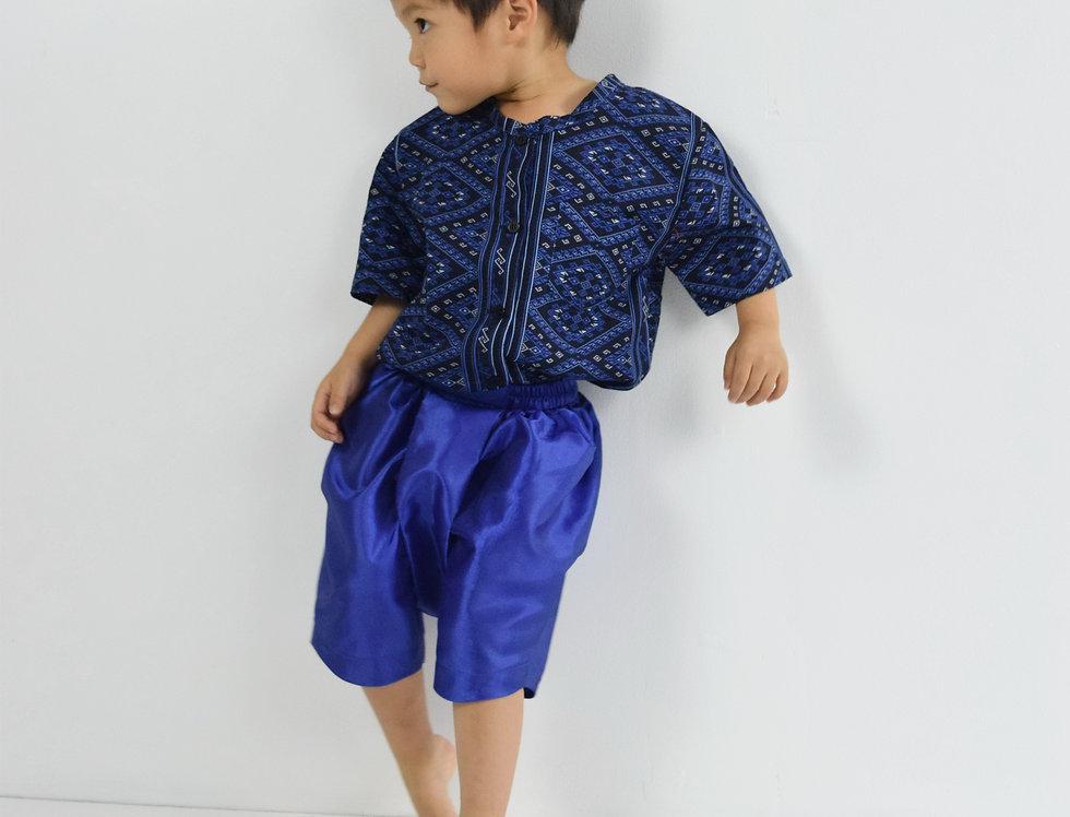 ชุดไทยเด็กชาย Pattani - Dark Blue