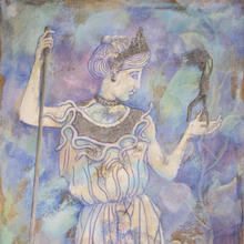 Athena with Warrior