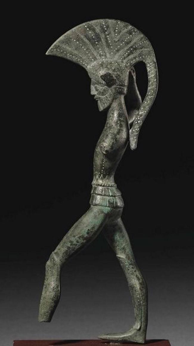 Etruscan Bronze Warrior statue. Umbria, circa 450-400 B.C