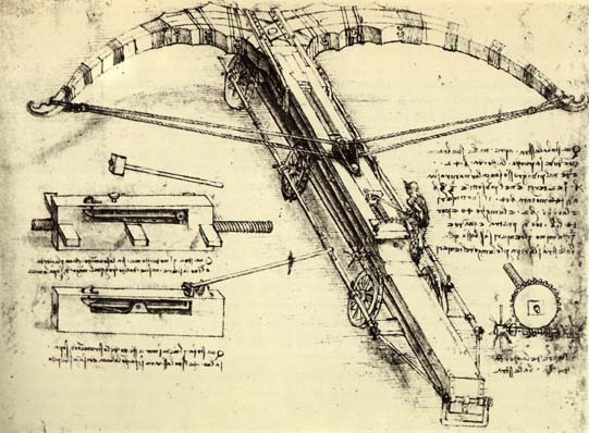 Da Vinci Crossbow drawing