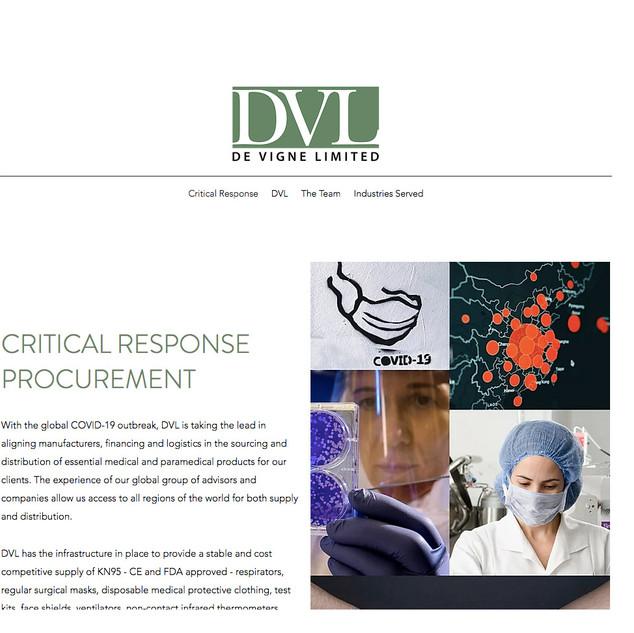 De Vigne Ltd. Website