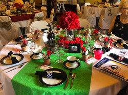 Table Decorated for Kentucky Derby Tea P