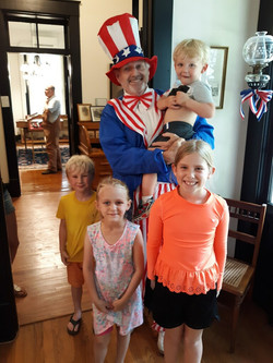 Uncle Sam at Independence Day Open House