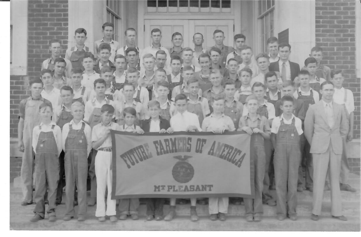 Mount Pleasant High School FFA around 19