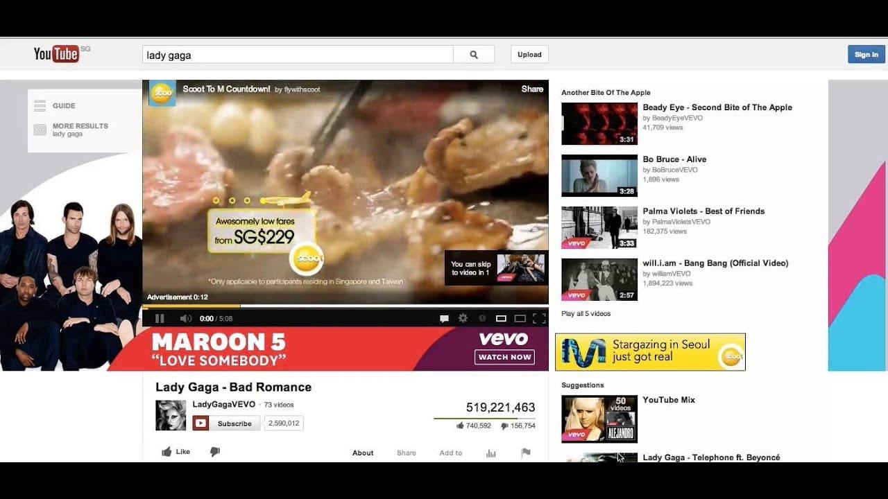 Youtube trueview Ad