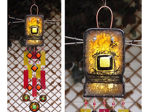 Robot - Fused Glass Wind Chimes