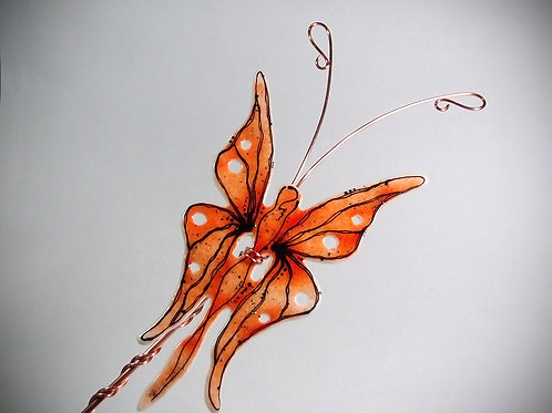 Butterfly Fairy - Fused Glass Garden Stake