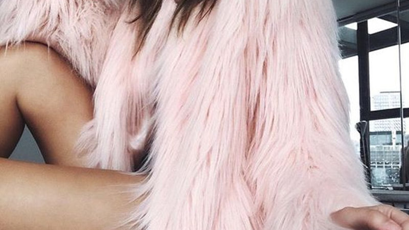 Naiveroo Furry  Fluffy Warm Long Sleeve Jacket Collarless