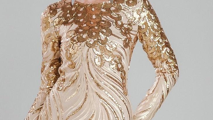 Gold Sequin Embellished Dress