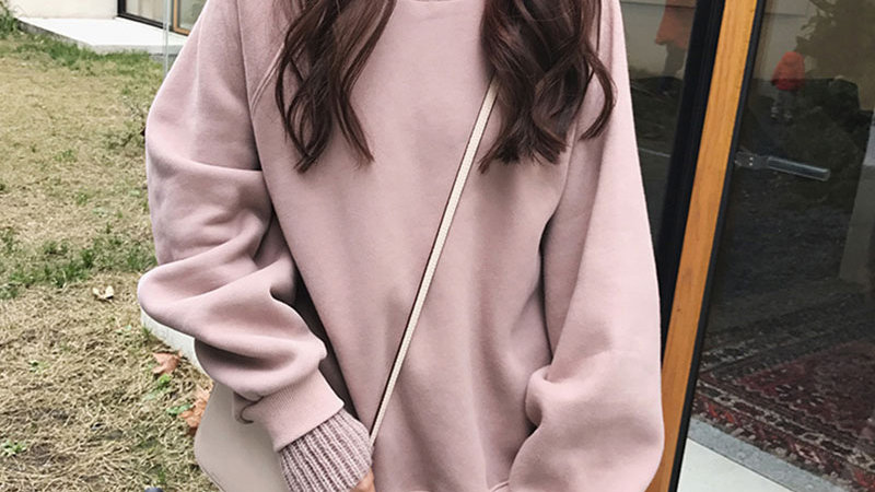 Jielur Korean Style Oversized False Two Pieces Turtleneck Sweatshirt