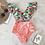 Thumbnail: Double Shoulder Ruffle Bikini Set High Waist Swimwear Women Swimsuit V-Neck