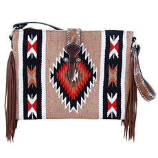 Twisted X Wool Saddle Handbag